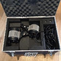 1000W Continuous Studio Lighting Kit (2 Lights) With Stands & Case