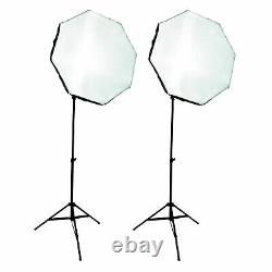 1000W Variable Color LED Dual Octagon Softbox Photo Studio Kit with Remote Control