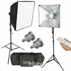 1000W Variable Color Temp LED Dual Softbox Photo Studio Kit with Remote Control
