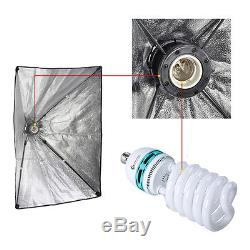 1250W Studio Softbox Continuous Lighting Kit + 3 Backdrop background Stand & Bag
