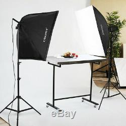 2000W LED Softbox Photography Studio Continuous Video Lighting Stand Kit 5500K