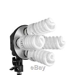 2280W Continuous Lighting Softbox Kit 4 Heads Boom Arm 3 Backdrops Studio Photo