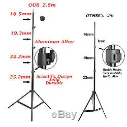 2850W Photo Studio Continuous Lighting Kit Softbox Boom Arm Green Backdrop Baby