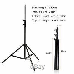 2Pcs Godox SL-200W 200W Studio LED Video Light Continuous Lighting Softbox Stand