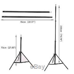 3375W Photo Studio Continuous Lighting Kit Softbox Boom Arm 3 Backdrop Stand UK