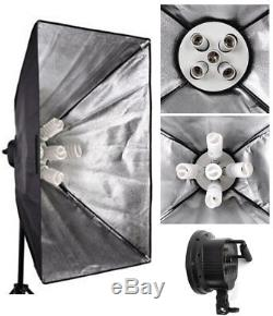 3375W Photo Studio Continuous Lighting kit Softbox Boom arm 5 Background & Stand