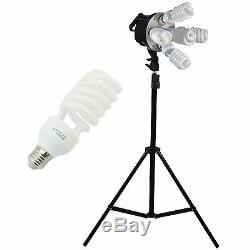 3375W Photo Studio Softbox Continuous Lighting kit Boom arm Backdrop Light Stand