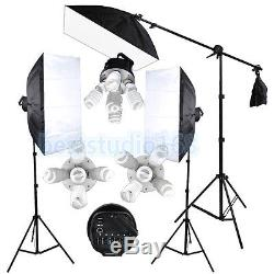 3375W Photography Studio Softbox Soft Box Continuous Lighting Light Stand Kit UK