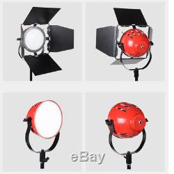 3x55w Led Red Head Redhead Dimmable Continuous Daylight 5500k Light Photo Studio