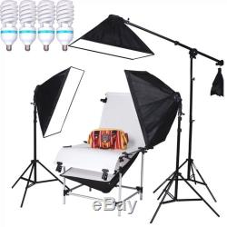 4150w Studio Continuous Lighting Softbox Kit Shooting Table Dslr Camera Product
