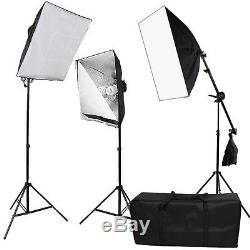 5125W Photo Studio Continuous Softbox Lighting Soft Box Boom Arm Light Stand Kit