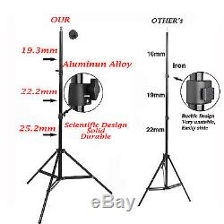 750W Studio Flash Lighting Kit Photo Background Stand 3 Muslin Cotton Backdrop