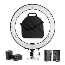Adjustable 600PCS Beads LED Video Studio Ring Lighting Kit + Bag + F970 Battery