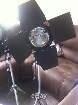 Arri lamps 800w pair perfect condition in box art studio stands