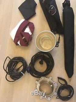 Bowens Esprit2 500 Lights 230V pro studio lighting kit with EXTRAS -SOLD AS SEEN