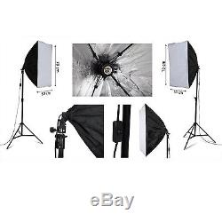 Continuous Lighting Kit 2 Stands 2 Soft Boxes 3 Backgrounds Video Photo Studio