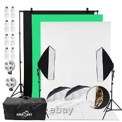 Continuous Lighting Studio Photography Background Softbox 45W x8 Photo Video UK