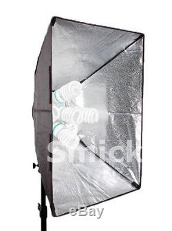 Continuous Super Softbox 5 studio kit Digital and Video lighting daylight bulbs