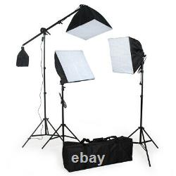 Continuous Video Studio Photography Lighting Kit Softbox Studio Stand Bulb New