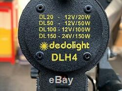 Dedolight DLH4 Kit of 3 Studio Lights with inline Dimmers etc. Excellent Condition