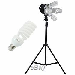 Deluxe Studio Photograpy Background 3 Softbox Boom Stand Continuous Lighting Kit