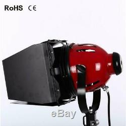 Dimmable Redhead 800W Continuous Tungsten Spot Flood Studio Stand Light Kit UK