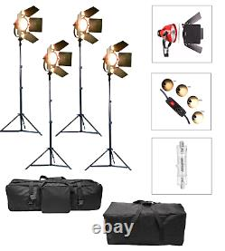Dimmable Redhead 800W Kit Studio Continuous Spot Flood Light Tungsten Stand UK
