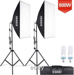 ESDDI Softbox Studio Lights 800W with 5500K Soft Lighting kit, Continuous for