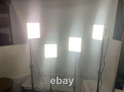 Four LITRA Pro Studio Lights With Stands, Soft boxes And Charging