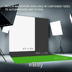 Fovitec 1x Complete Photography & Videography Studio Kit with 10FT x 20FT