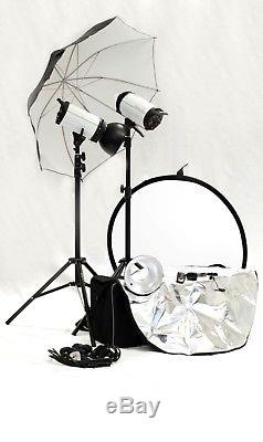 GENESIS 8 portable studio lighting and flash complete kit! Only used a few times