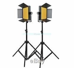 Godox 2000 2X 1000 LED Studio Video Continuous Light Kit For Camera Camcorder DV