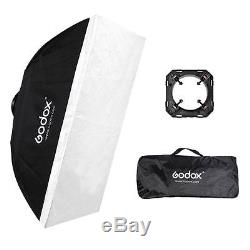 Godox 2 E250 250W Photography Video Studio Strobe Flash Light stand softbox kit