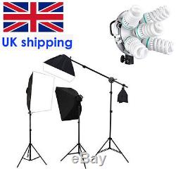 Godox Studio Photo Continuous Lighting Softbox Kit W Tricolor Bulb/Light stand