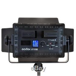 Godox Two 500 LED Studio Video Continuous Light White Version & Light Stands Kit