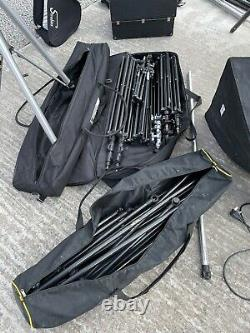 Huge Collection Of Professional Photography Studio Equipment. Lighting Tripods
