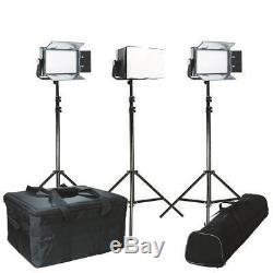 Ikan Kit with 3 x IFB576 LED Studio Lights and Chimera Soft Boxes IFB576-KIT-CH