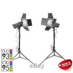 LED100D MKII Studio Light Twin Kit Video Lights Interview Green Screen