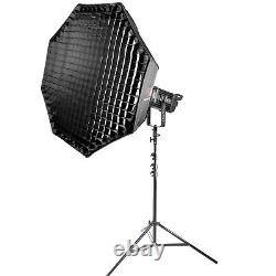 LED Chip Video Continuous Light Studio Bi-colour Softbox Stand Dimmable 100W