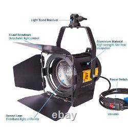 LED Fresnel 50W Spotlight x2 Dimmable Professional Studio Photography Lighting