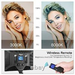 LED Video Lighting Kit with Wireless Remote, Studio Lighting for Video Shooting