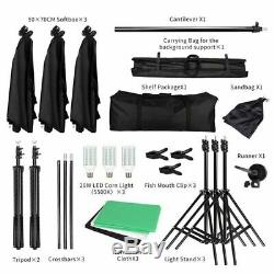 Lighting Kit Photography Studio Softbox Background Support System Backdrops Tool