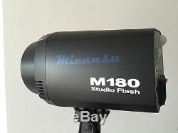 Mikansu Studio lights 180W (2 Units) + stands (2.4m) + Softboxes + Background