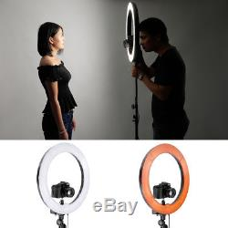 Neewer 18 75W(600W Equivalent) Camera Studio Ring Fluorescent Flash Light Kit