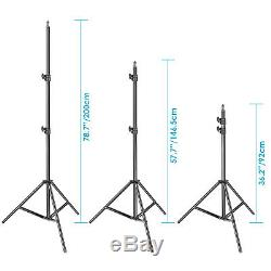 Neewer 2 Pack Dimmable Bi-color 480 LED Video Light&Light Stand Kit for Studio