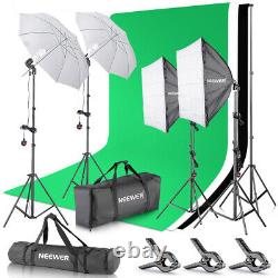 Neewer 800W Studio Lighting Kit and Umbrellas Softbox Background Support System