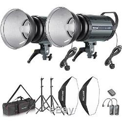 Neewer Pro 800W Photo Studio Strobe Flash and Softbox Lighting Kit