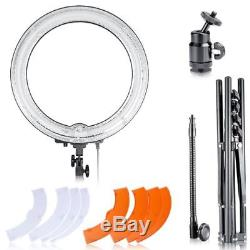 Neewer Ring Continues Light Dimmable 18 Kit withStand 5500K Video Photo studio UK