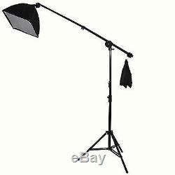 New Studio Light Kit Set Softbox Boom Stand Muslin Backdrop Support Photography