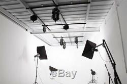 Pantograph Studio Ceiling Rail System 4 Photography Lighting Glide Video Kit UK